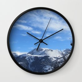 Swiss Mountains Wall Clock