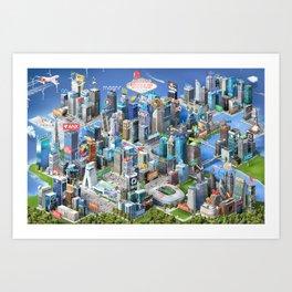 Bitcoin & the Blockchain Ecosystem Poster 2016 Art Print