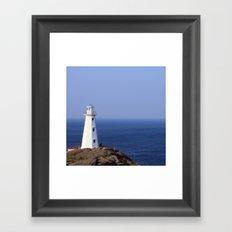 Blue Sky Lighthouse Framed Art Print