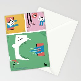 Loop cat comix Stationery Cards