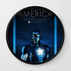 IRON AMERICA 9/11 Wall Clock