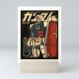 classic gundam Mini Art Print