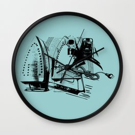 ELECTRIC IRON GRAPHIC  Wall Clock