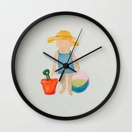 Toddies Summer Beach Holiday Baby Girl Wall Clock