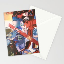 lord krishna painting Stationery Cards