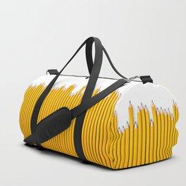 Pencil row / 3D render of very long pencils Duffle Bag