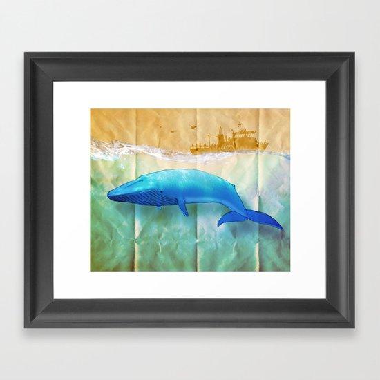 the beauty beneath _ humpback whale Framed Art Print