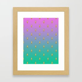 A thousand sitting dogs Framed Art Print