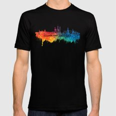 Cracow skyline city color Black Mens Fitted Tee MEDIUM