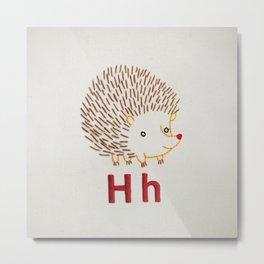 H Hedgehog Metal Print