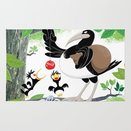 Thieving Magpies Rug