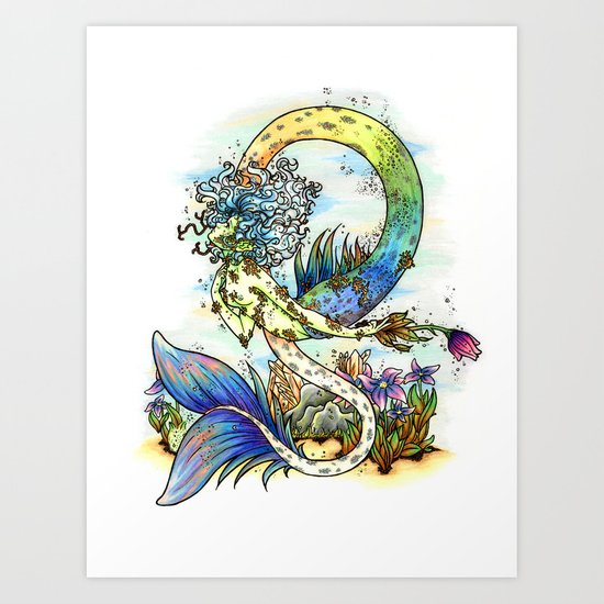 Elemental series - Water Art Print