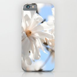 3 glowing Magnolias iPhone Case