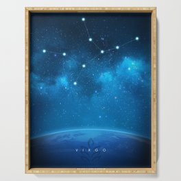 Virgo: Astrological Art Serving Tray