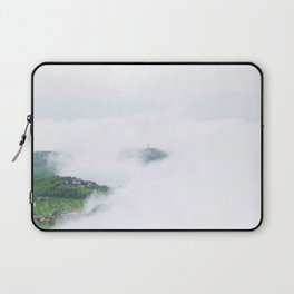 Avalon tower - behind the clouds - Veroli, Lazio, Italy - Travel photography Art Print Laptop Sleeve