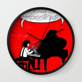 Piano, paper, scissors Wall Clock