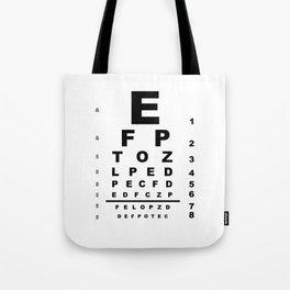Eye Test Chart Tote Bag