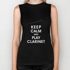 Keep Calm and Play Clarinet Biker Tank