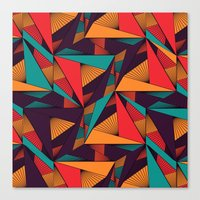 arya Canvas Prints featuring Hexagonal Lines and Triangles by Hinal Arya