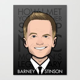 Barney Stinson - How I Met Your Mother Canvas Print