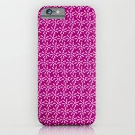 Floral pattern with pink daisy iPhone Case