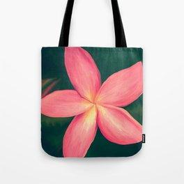 Pink Tropical Flower Tote Bag