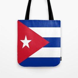 Flag of Cuba -cuban,havana, guevara,che,castro,tropical,central america,spanish,latine Tote Bag