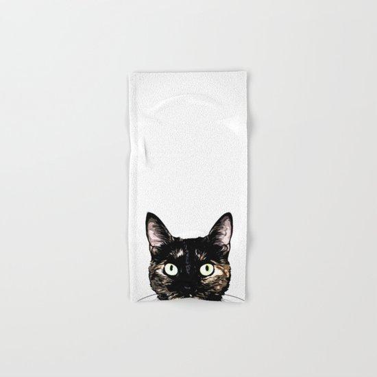 Peeking Cat Hand & Bath Towel