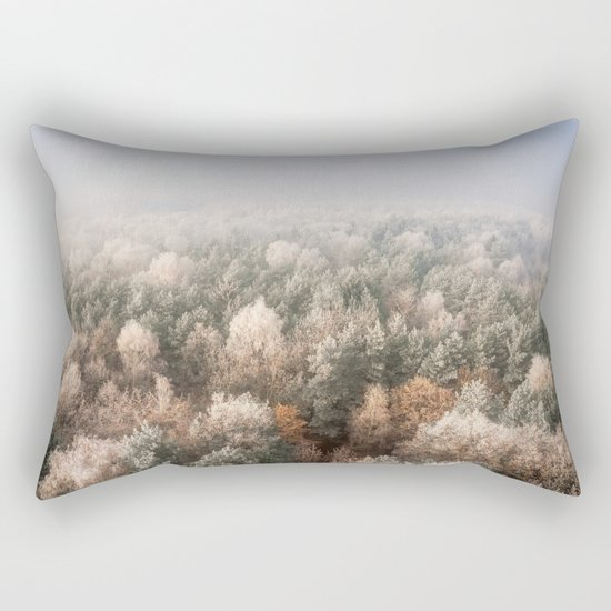 Vanish in the Snow Rectangular Pillow