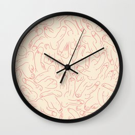 Penis Pattern Wall Clock