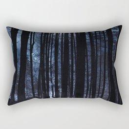 Moonlight Through the Trees Rectangular Pillow