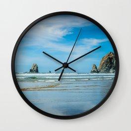 Picturesque Oregon Coastline Wall Clock