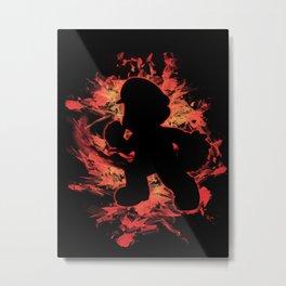 Super Smash Bros. Mario Silhouette Metal Print