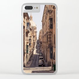 Malta Street View Clear iPhone Case