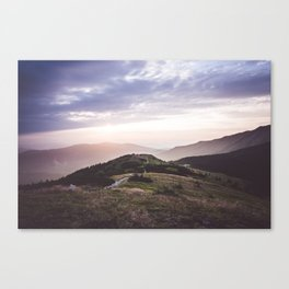 good morning mountains Canvas Print