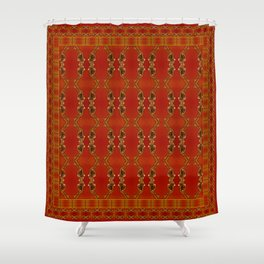 Influenza C Tapestry by Alhan Irwin Shower Curtain