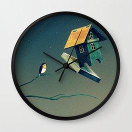 Flying Bird...house Wall Clock