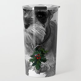 Christmas Schnauzer Travel Mug