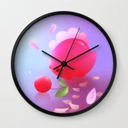 Sakura Dino Wall Clock