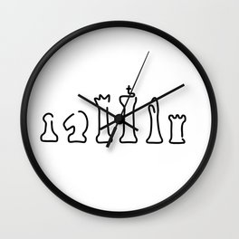 chess chess figures board Wall Clock