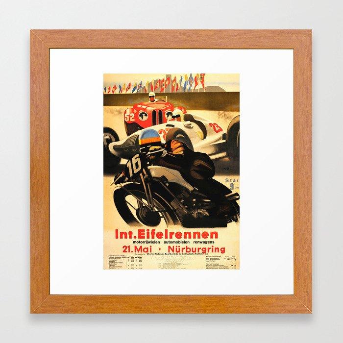 Nurburgring Race Vintage Poster Framed Art Print