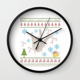 Rock N Roll Christmas Ugly Shirt RocknRoll Wall Clock