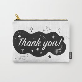 A sparkling Thank You Carry-All Pouch