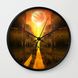 River Of Gold Wall Clock