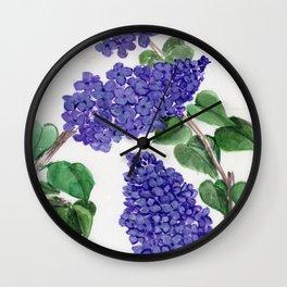 Sweet Little Lilacs Wall Clock