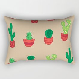 Cacti Pattern Rectangular Pillow