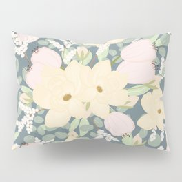 Floral Bouquet with Tulips, Peonies and Eucalyptus  Pillow Sham