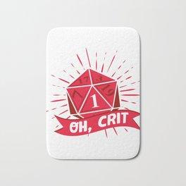 Oh Crit DM Tabletop Gaming Gift Dragons D20 Dice Set Print Bath Mat