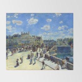 Auguste Renoir Pont Neuf, Paris Throw Blanket