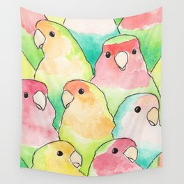 Bird no. 317: Candy Birds Wall Tapestry